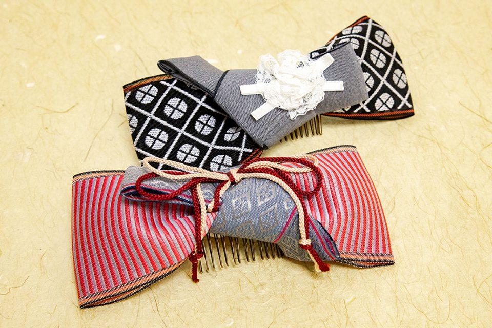 鎌倉いにしえにしの畳縁ヘアアクセ
