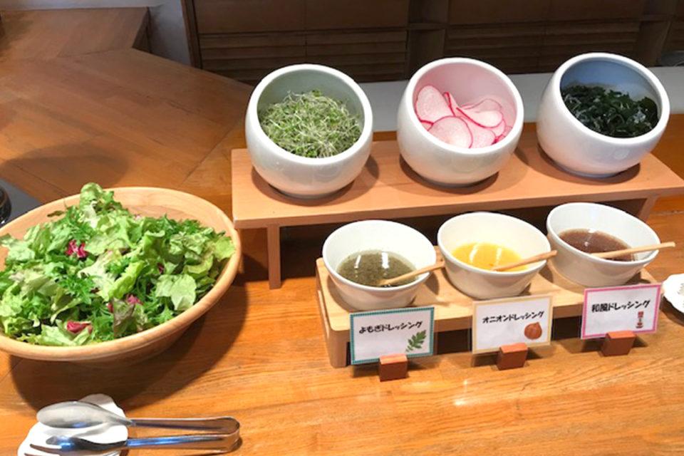 ダイヤモンド鎌倉別邸ソサエティの湘南野菜のサラダバー
