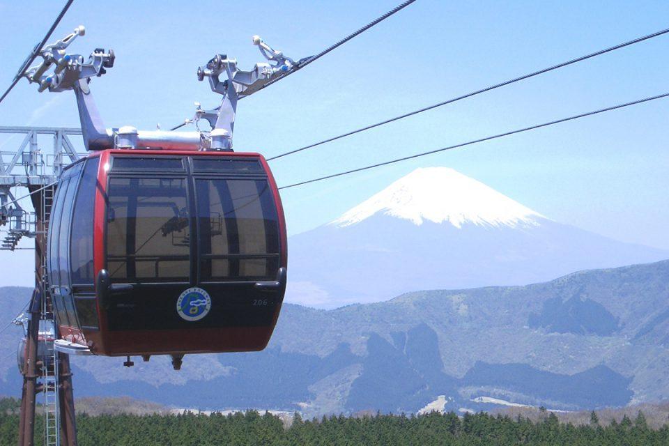 箱根ロープウェイと富士山