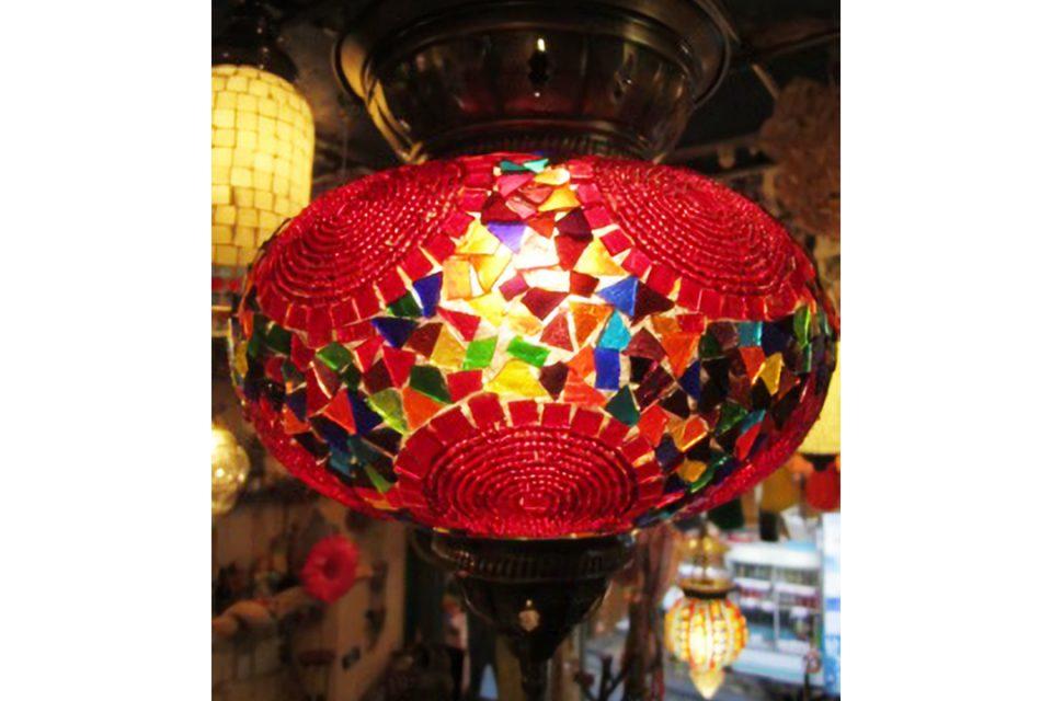 ルーストフィグレットのモザイクガラスランプ