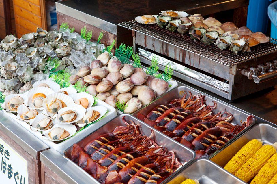 貝作の店頭