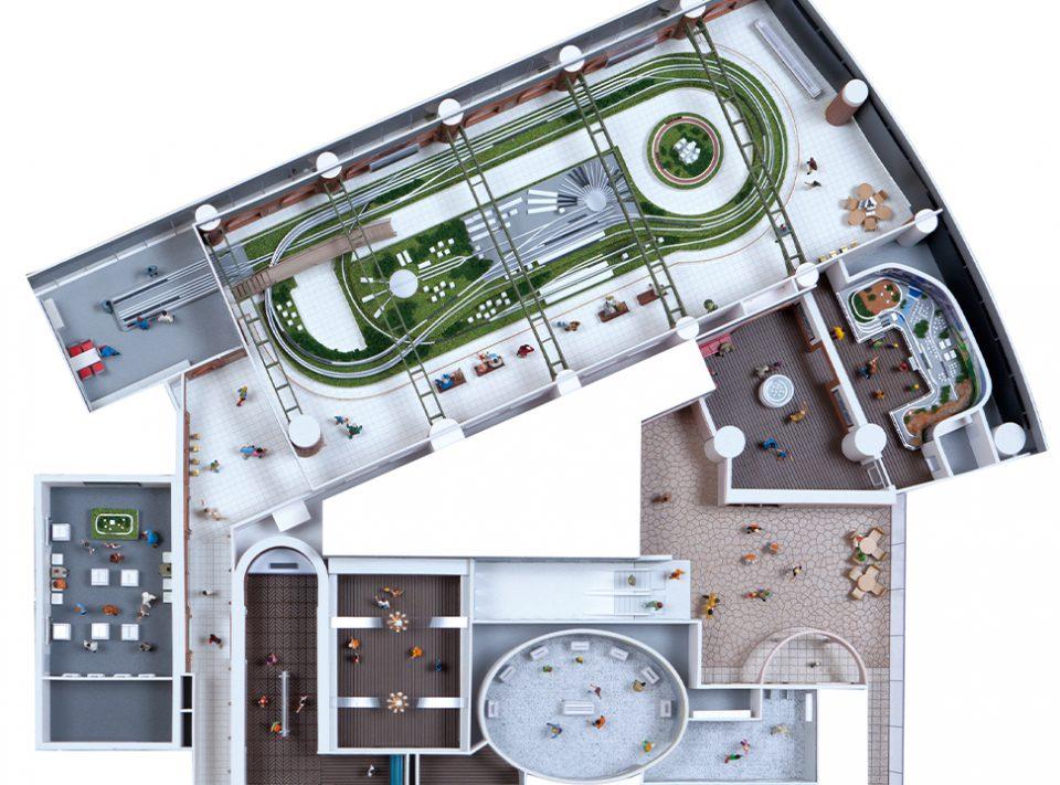 原鉄道模型博物館の館内案内図