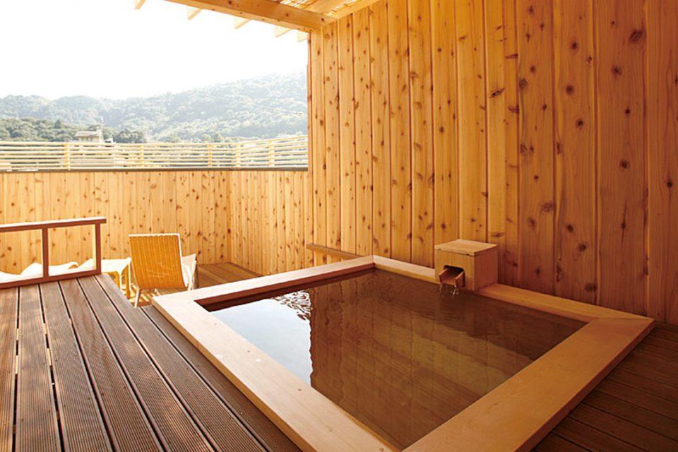 ますとみ旅館の屋上露天風呂