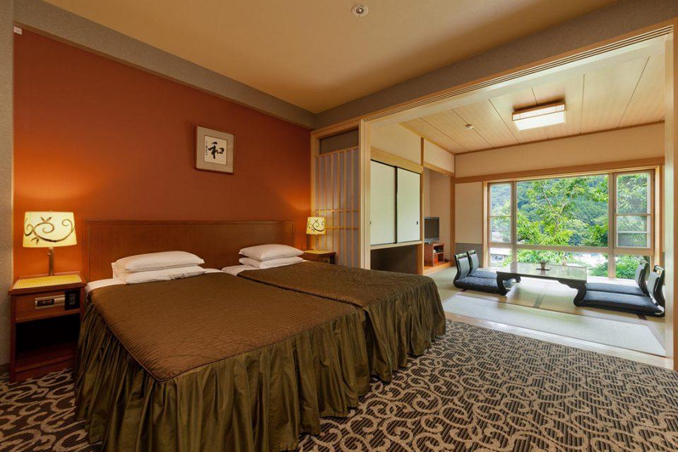 ホテルマイユクール祥月の総檜風呂付スウィートルーム