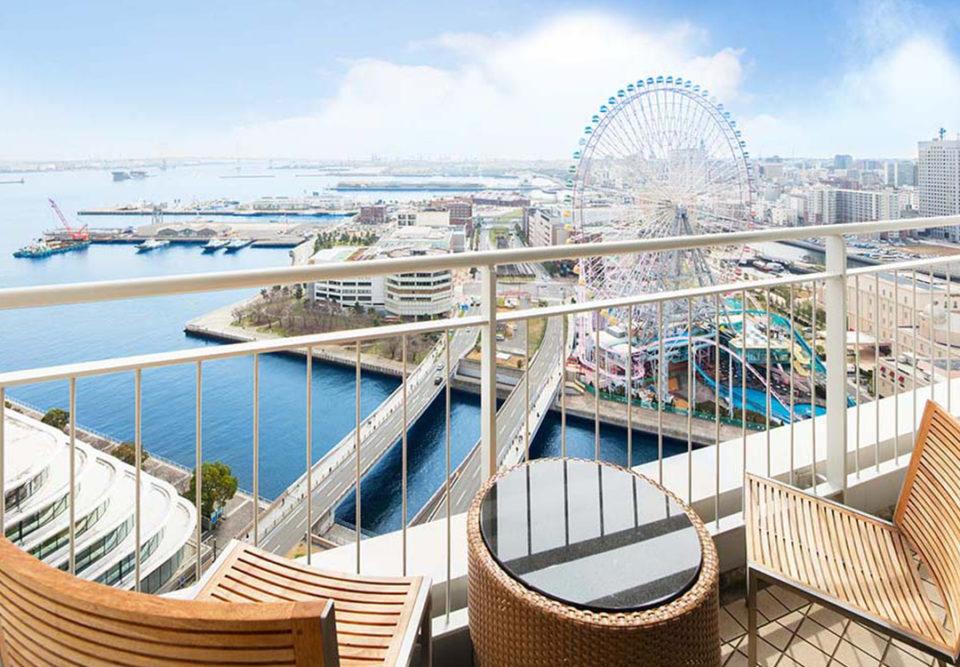 横浜ベイホテル東急のバルコニー