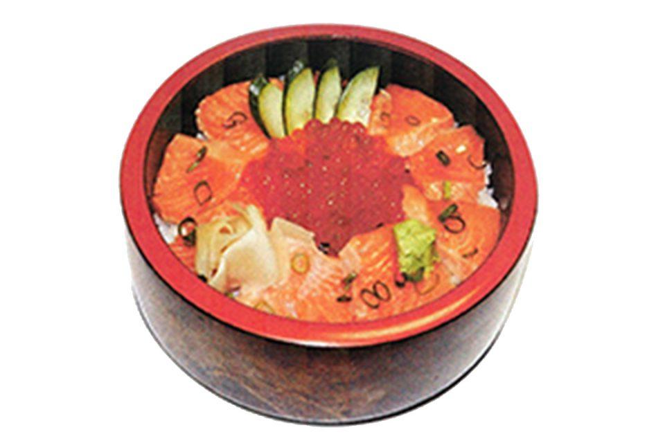かっ平寿しのおやこ丼(サーモン・いくら)
