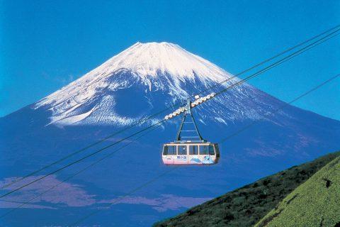 箱根駒ヶ岳 ロープウェーと富士山