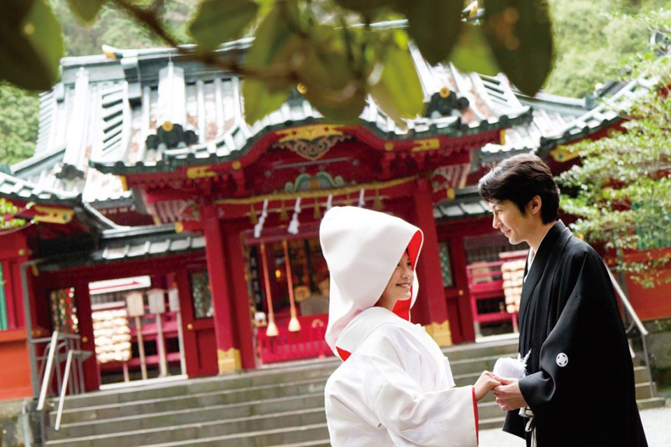 箱根神社で神前式