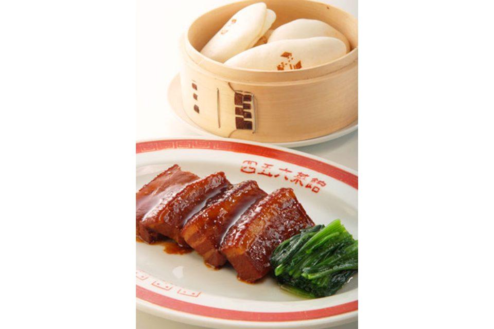 四五六菜館新館の皮付き豚バラ肉の醤油煮込み