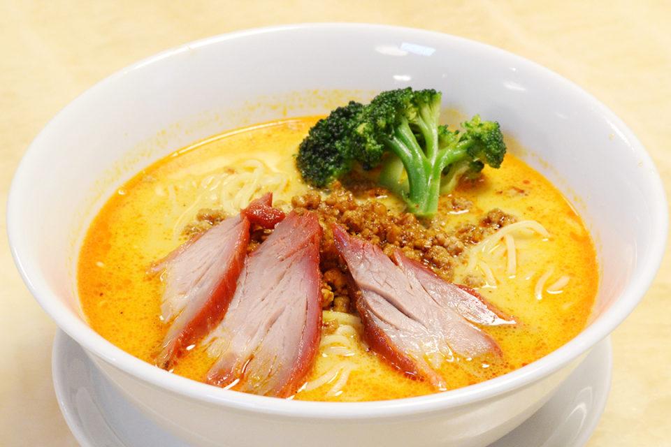 四五六菜館別館の自家製チャーシュー入り担々麺