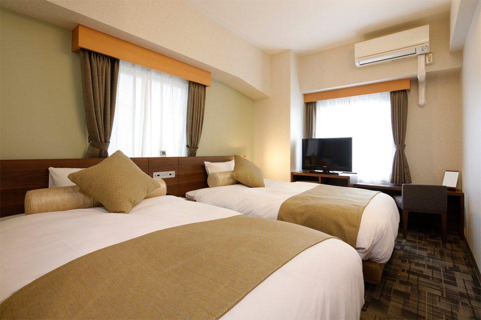 ホテルウィングインターナショナル横浜関内のツインルーム