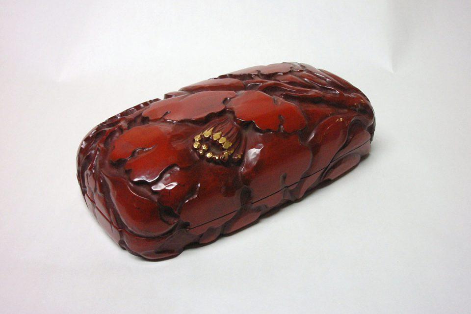 鎌倉彫博古堂の手刳箱柘榴