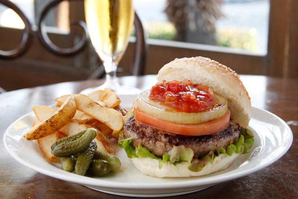 ヴィーナスカフェのハンバーガー