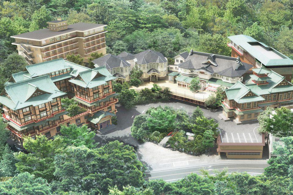 富士屋ホテルの鳥瞰図