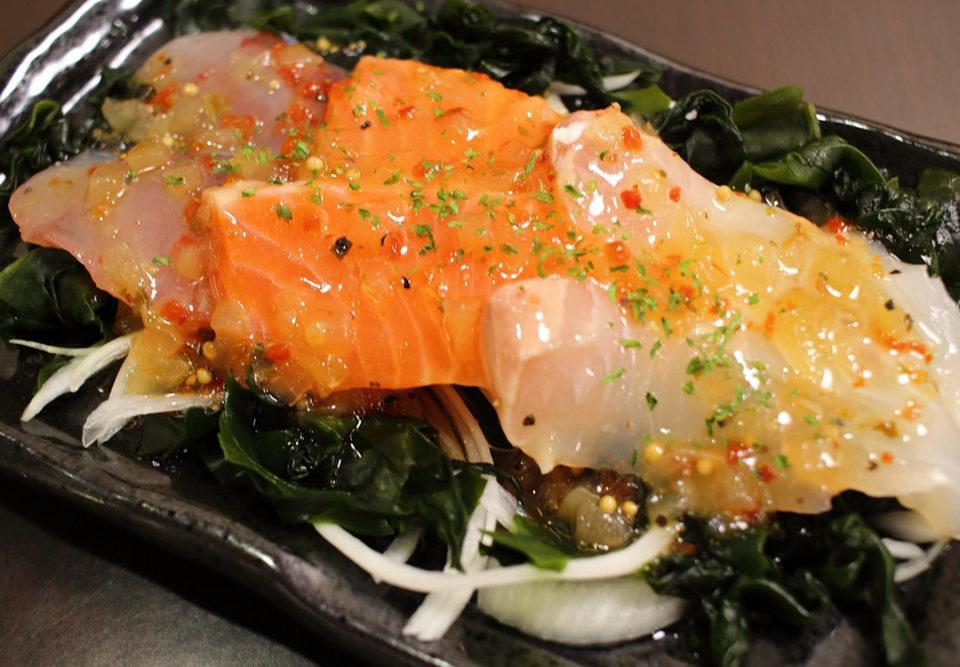 ハルミ食堂の海鮮3種カルパッチョ