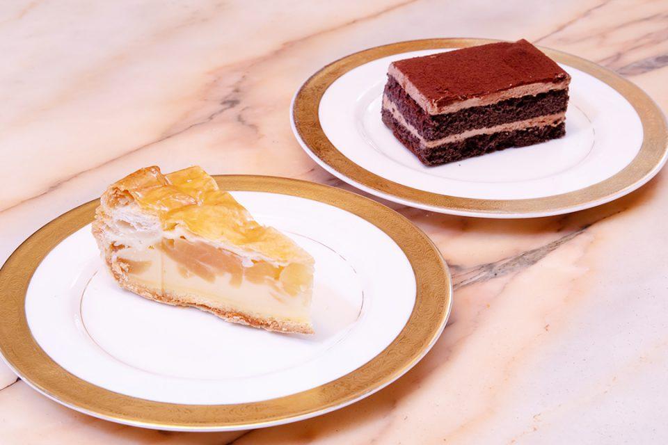 コーヒーの大学院ルミエール・ド・パリのアップルパイとチョコレート