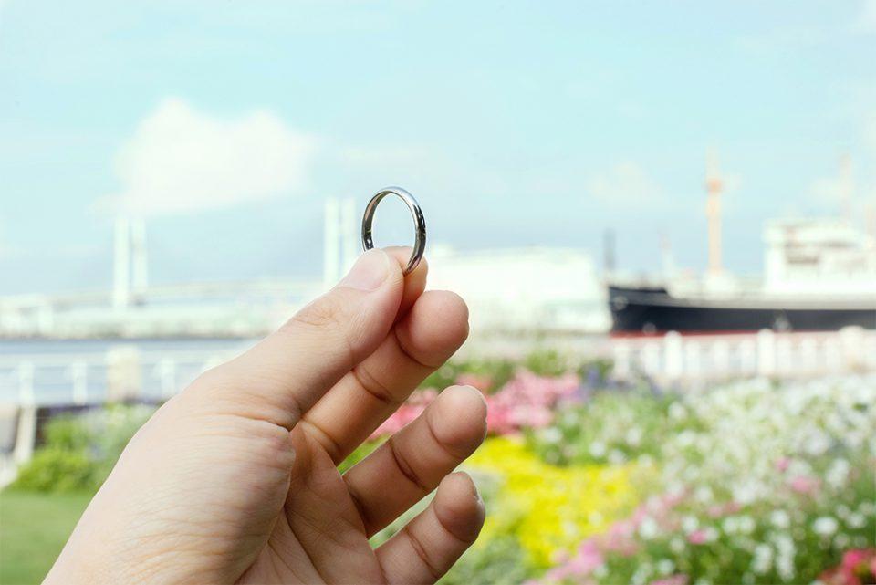 横浜元町彫金工房で作った指輪2