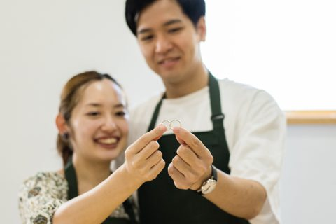 横浜元町彫金工房で指輪を作る様子2