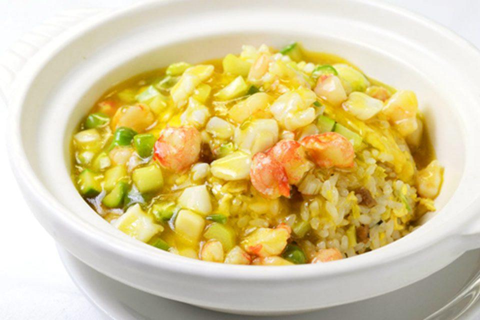 四五六菜館別館の海鮮あんかけ土鍋炒飯