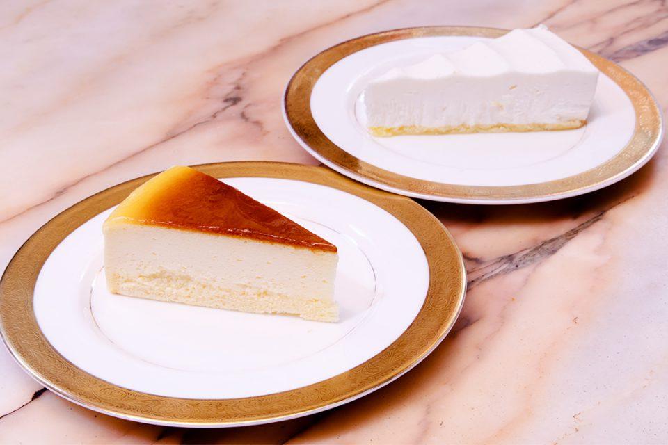 コーヒーの大学院ルミエール・ド・パリのベイクドチーズとレアーチーズ