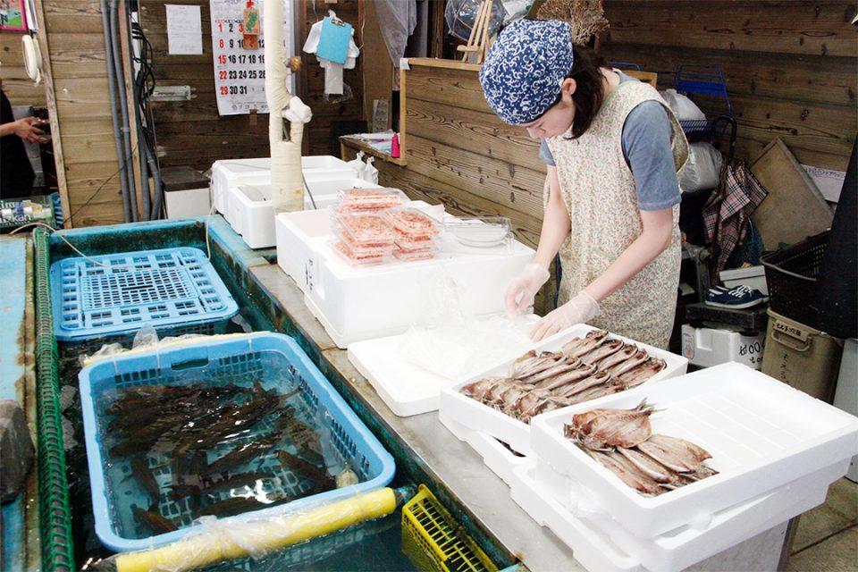鎌倉魚市場(鮮魚平勝)の店内