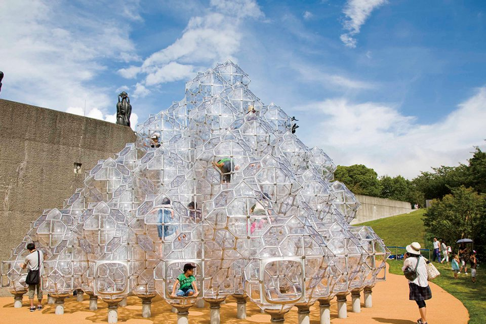 彫刻の森美術館のしゃぼん玉のお城