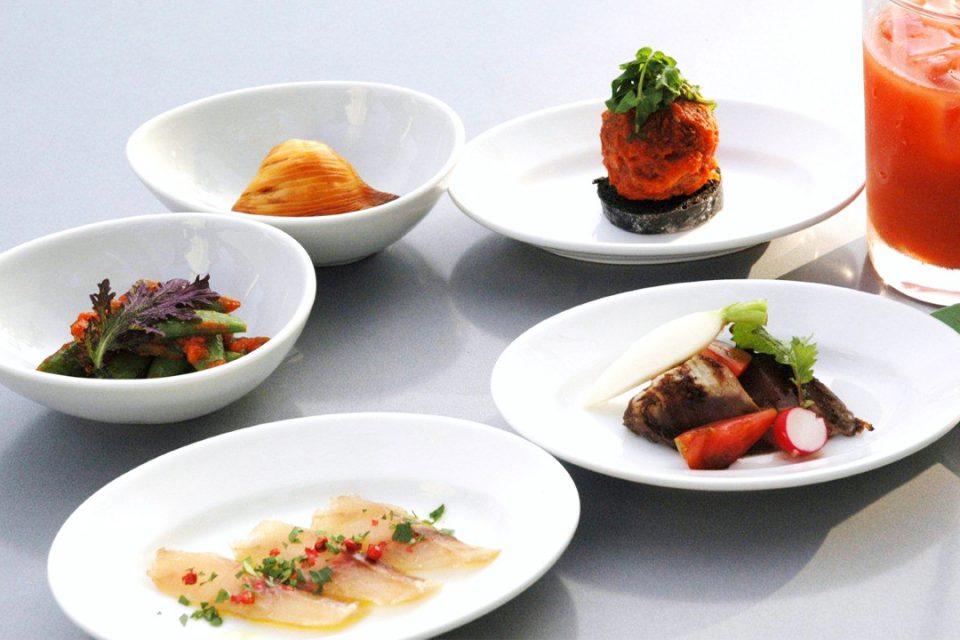 芦ノ湖テラスのおまかせ前菜小皿