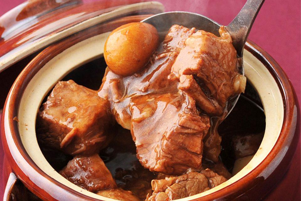 金香樓の牛スジの秘伝たれ壷煮
