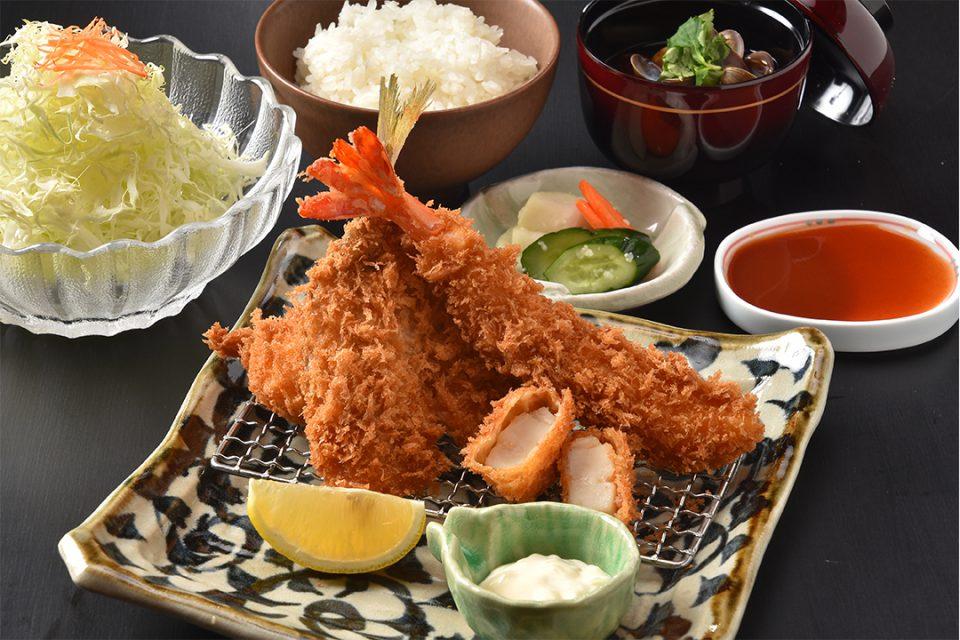鎌倉かつ亭あら珠総本店の海鮮フライ盛り合わせ定食