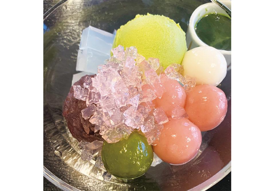 鎌倉山里の限定抹茶クリームあんみつ