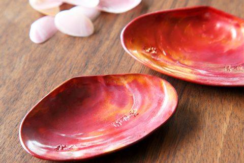 鎌倉清雅堂の手作り銅器茶さじさくら貝型