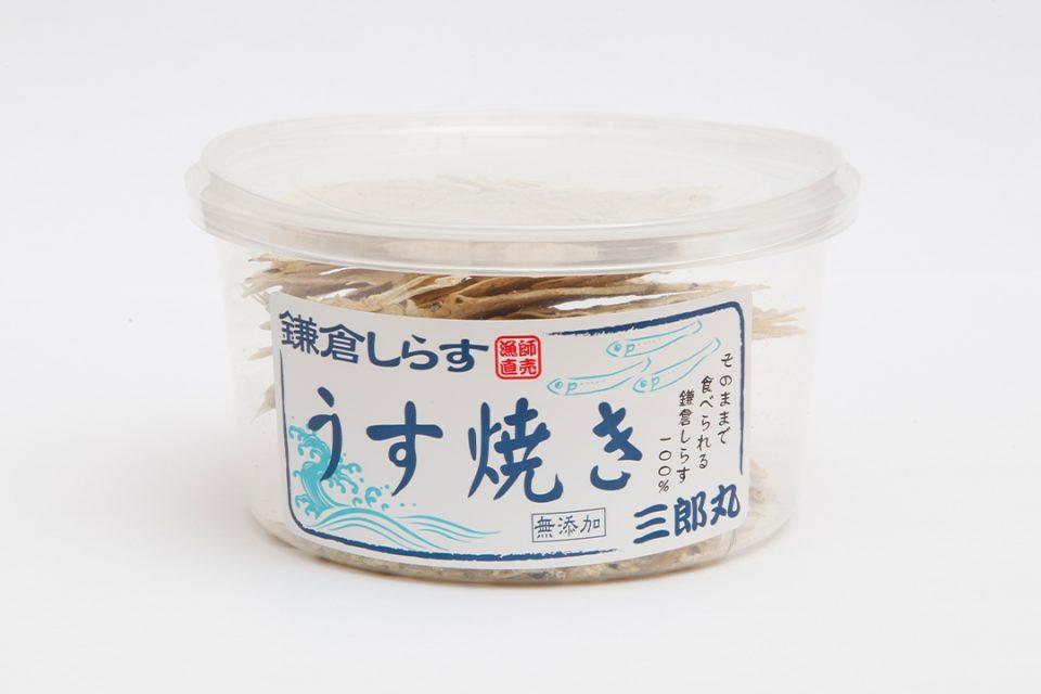 そばや繁茂の三郎丸のしらすのうす焼き