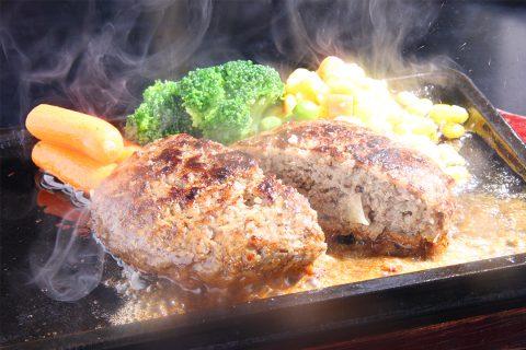 四季彩の米沢牛スパイシーハンバーグ