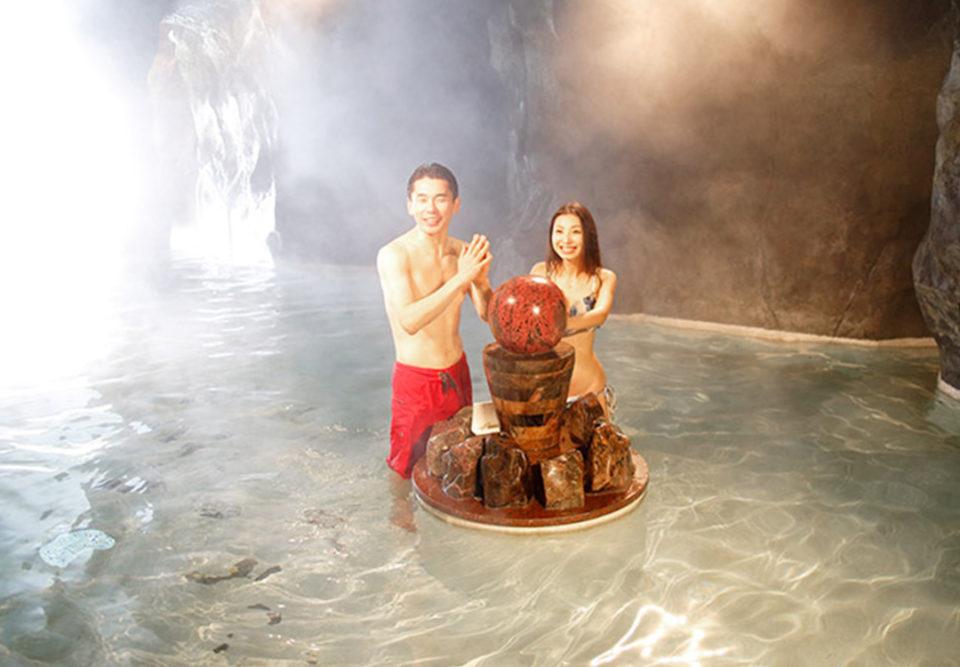 ユネッサンの洞窟風呂