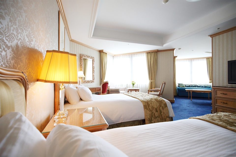 鎌倉パークホテルの客室デラックスツイン