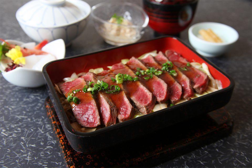 肉の石川のステーキ御膳