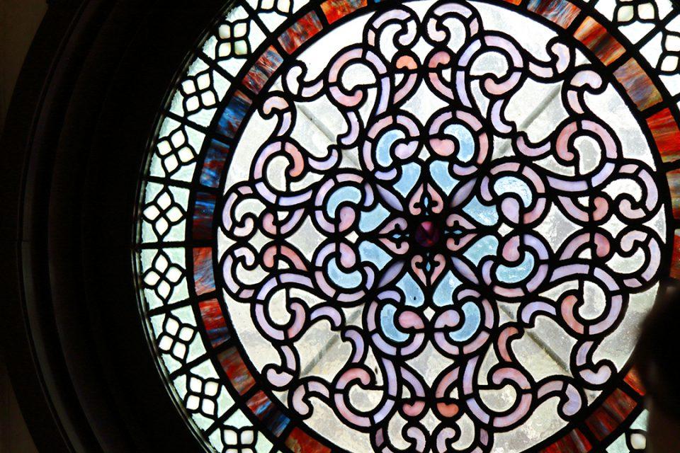 鎌倉文学館のステンドガラス