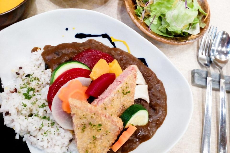 鎌倉雪ノ下の鎌倉野菜と湘南ポークのパテのフライ添え、カレー