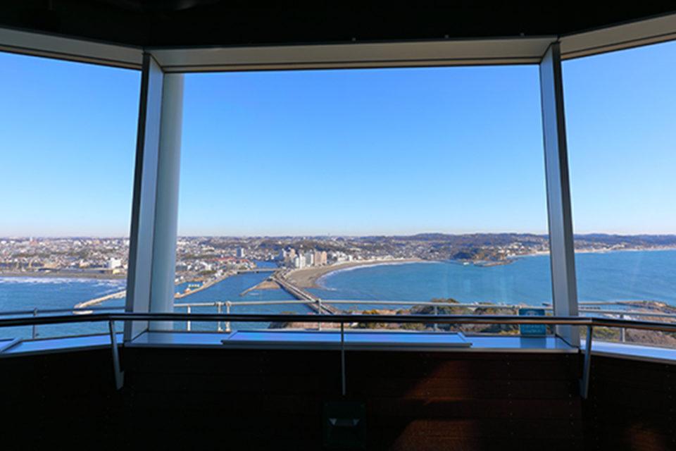 江の島シーキャンドル展望灯台からの眺め