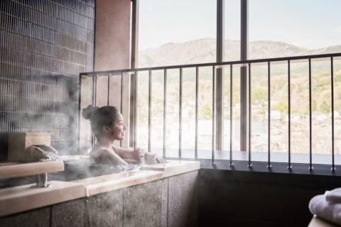 ホテルインディゴ箱根強羅の客室露天風呂