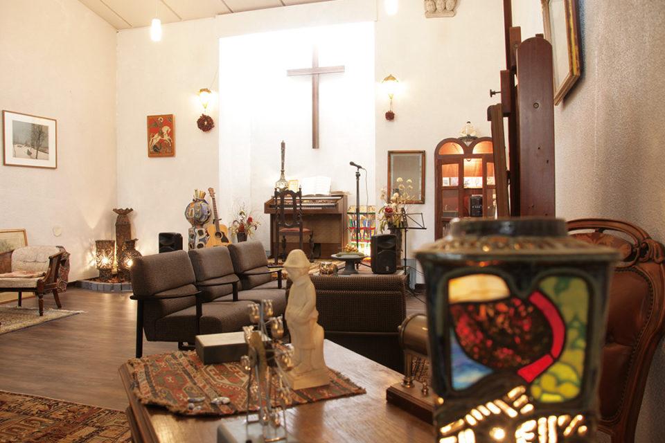 杜の宿礼拝堂をリフォームしたホール